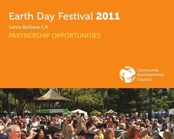 Earth Day Festival 2011Santa Barbara, CAPARTNERSHIP OPPORTUNITIES                            Community                    ...