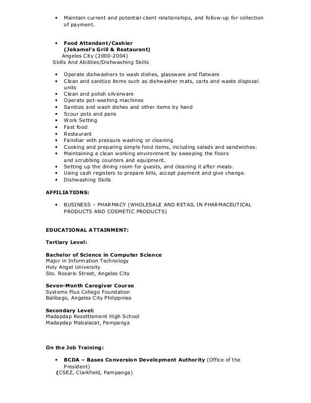 ma resume skills