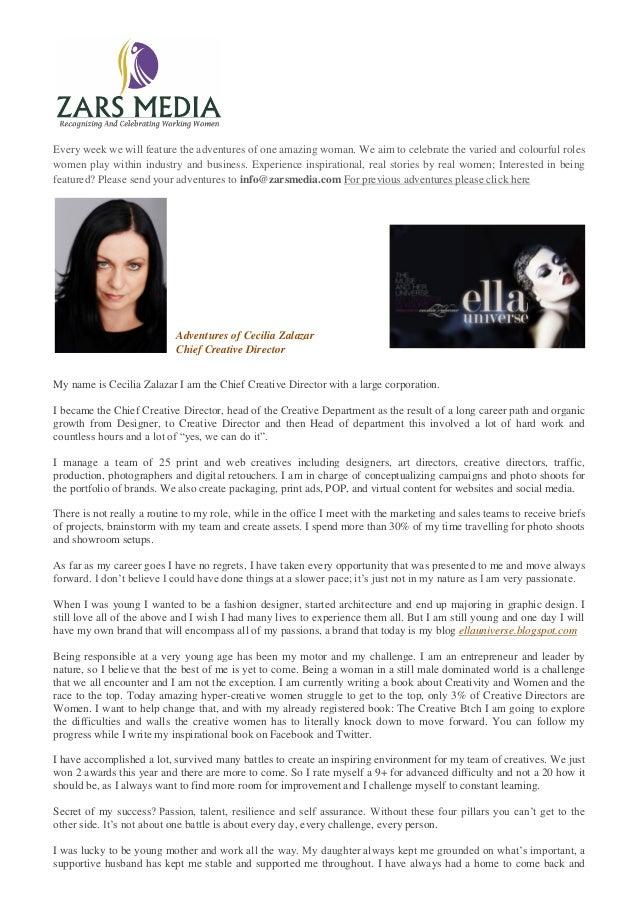 Cecilia Zalazar Chief Creative Director