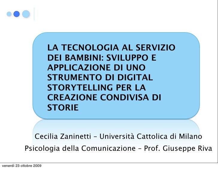 Cecilia Zaninetti - Tecnologia e bambini - Tesicamp