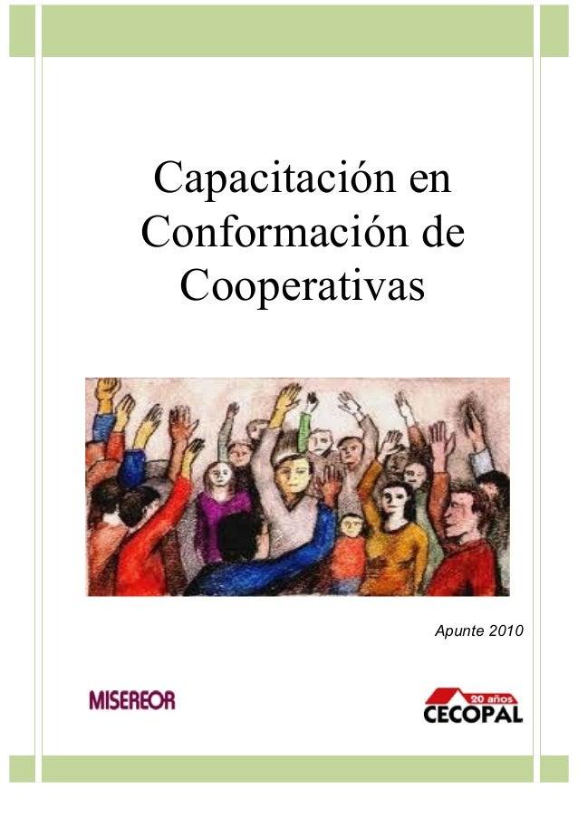 Capacitación en Conformación de Cooperativas  Apunte 2010
