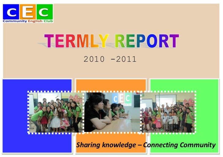 CEC Activity Report [en]