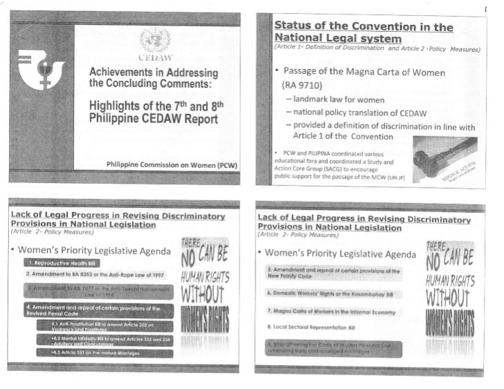 Philippine CEDAW Report Highlights