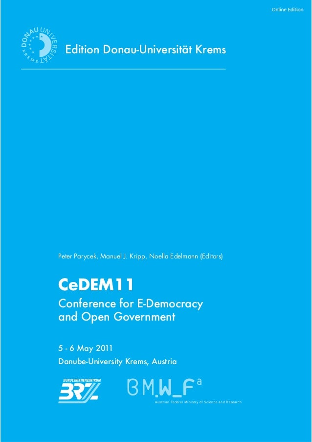 CeDEM11 - Conference for E-Democracy and Open Government