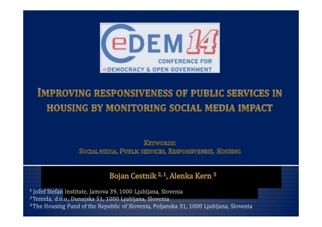 Improving responsiveness of public services in housing by monitoring social media impact