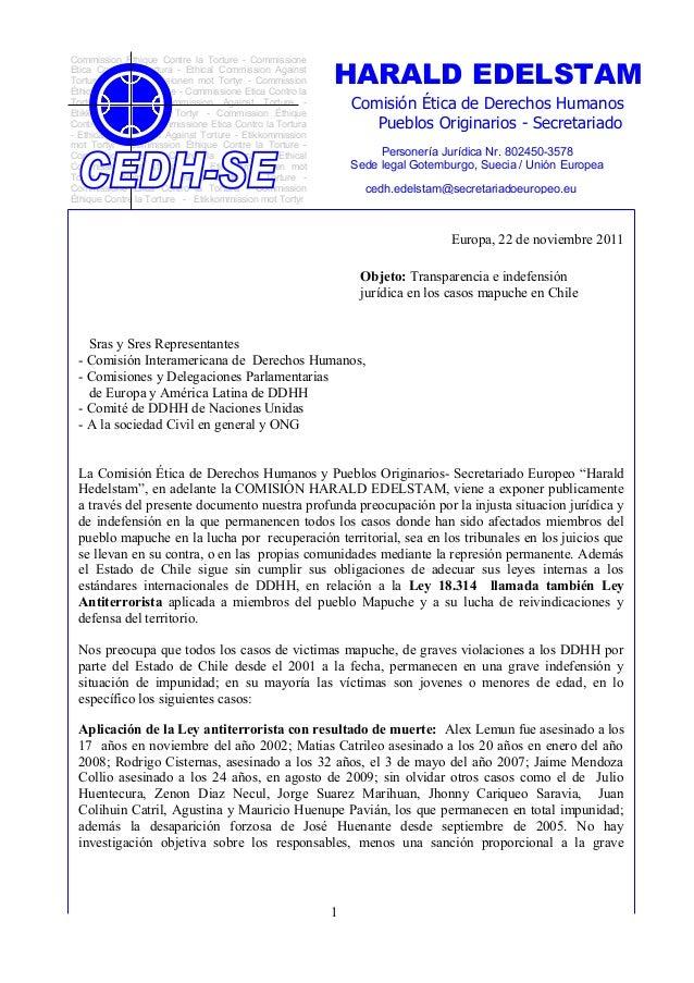HARALD EDELSTAMCommission Éthique Contre la Torture - CommissioneEtica Contro la Tortura - Ethical Commission AgainstTortu...