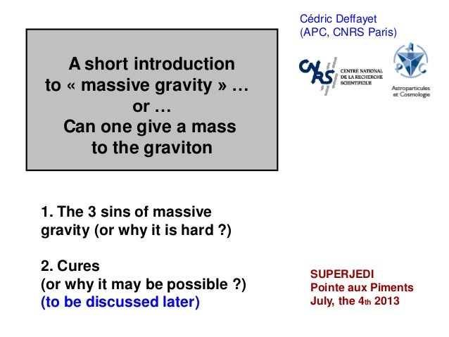 A short introduction to massive gravity... or ... Can one give a mass to the graviton?