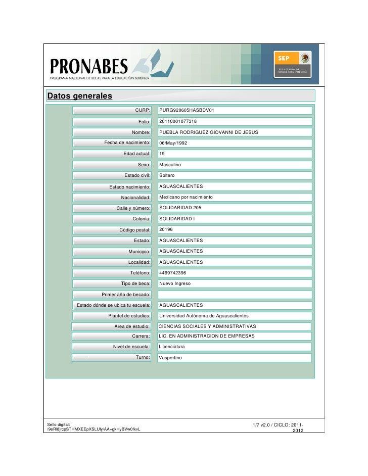 Datos generales                                      CURP:      PURG920605HASBDV01                                        ...