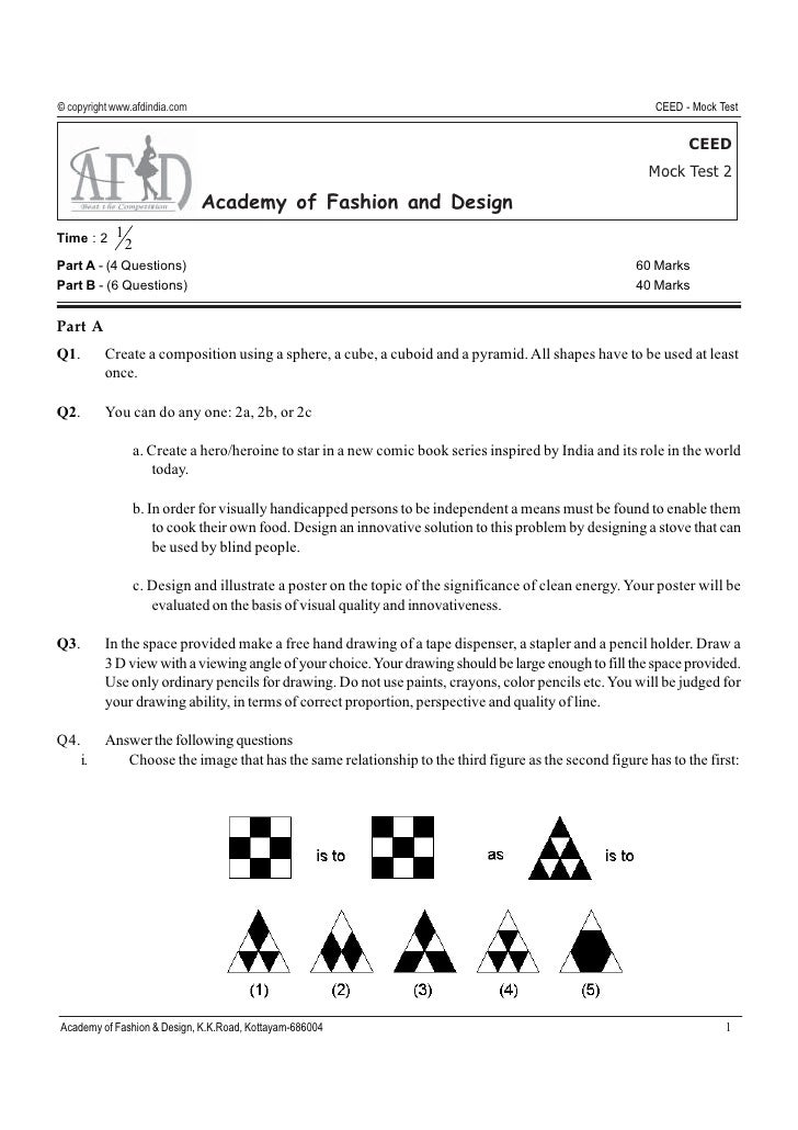 ceed test sample paper