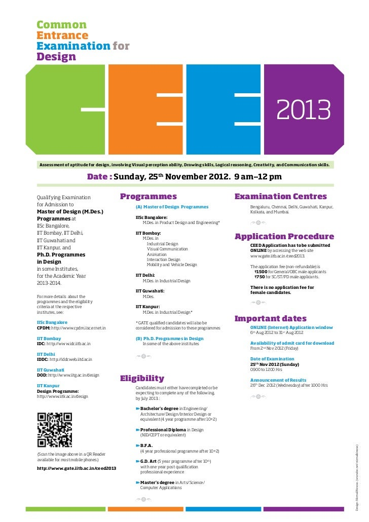 CEED 2013 Admission notifications - view & download for free