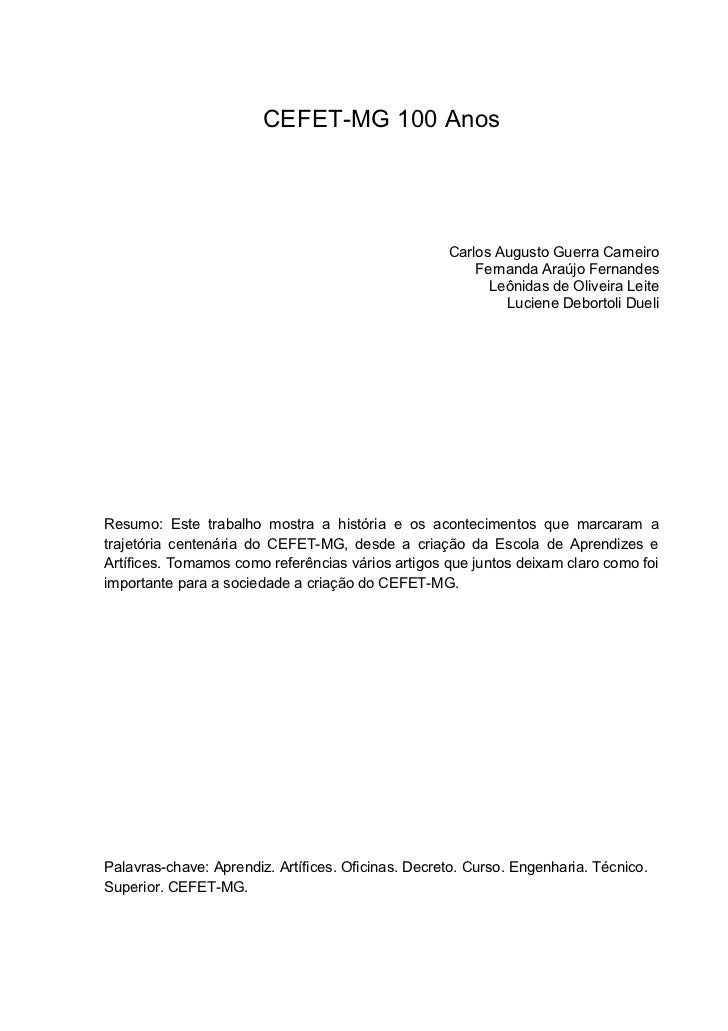CEFET-MG 100 Anos                                                         Carlos Augusto Guerra Carneiro                  ...