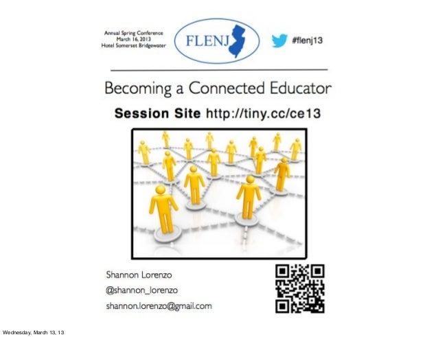 Connected Educator flenj 2013