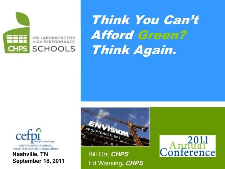 CHPS                 Think You Can't                     Afford Green?                     Think Again.Nashville, TN      ...