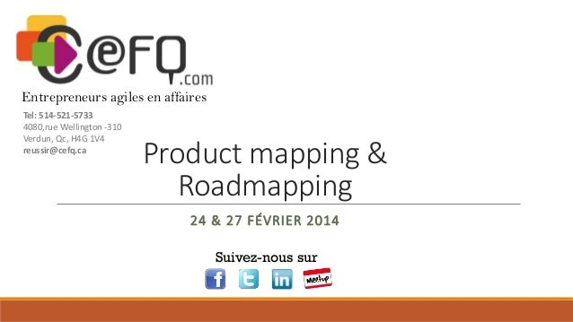 Cefq - Product mapping et roadmapping