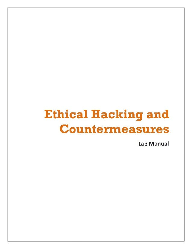 Ethical Hacking and Countermeasures Lab Manual