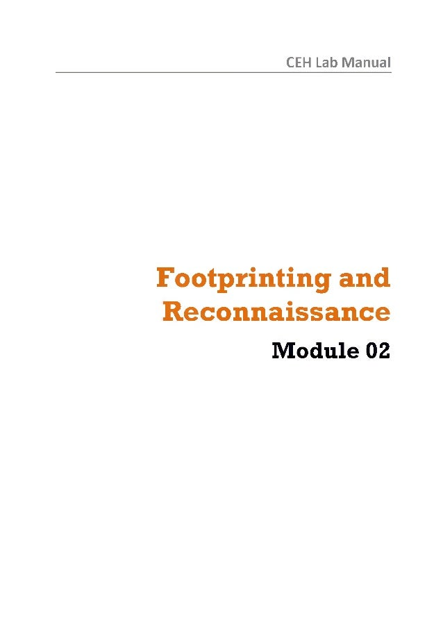 Ceh v8 labs module 02 footprinting and reconnaissance