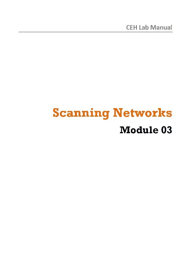 Ceh v8 labs module 03 scanning networks