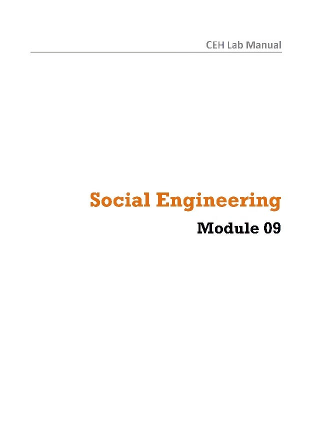 Ceh v8 labs module 09 social engineering