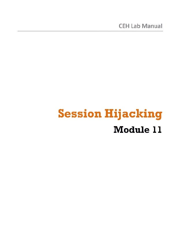 Ceh v8 labs module 11 session hijacking
