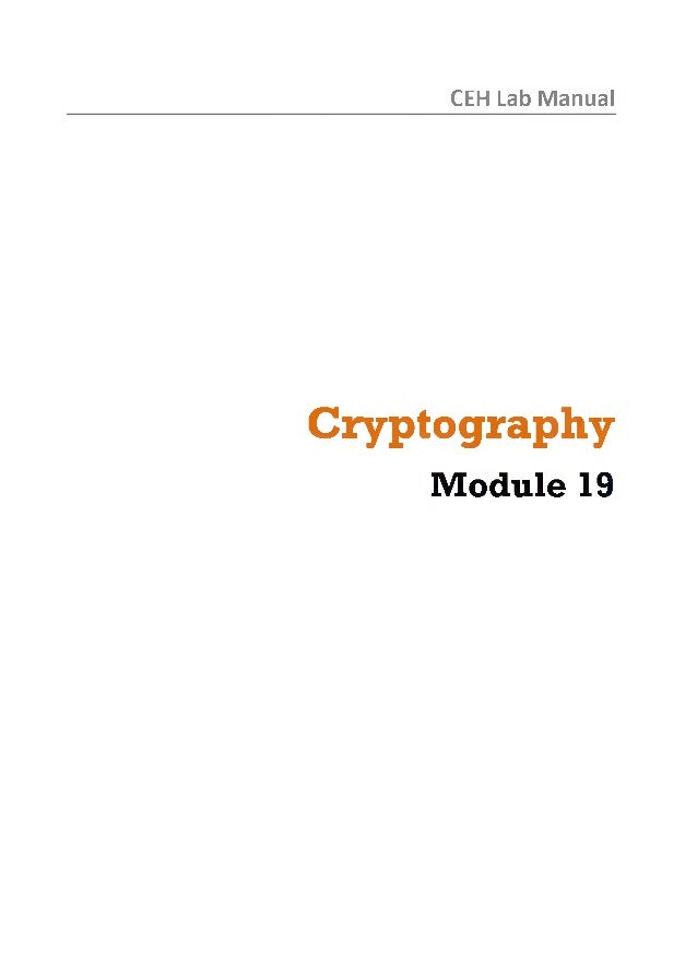 Ceh v8 labs module 19 cryptography
