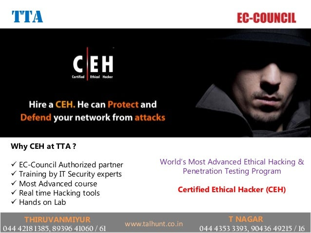 EC-COUNCIL CEH Certified Ethical Hacker V8 training certification in chennai