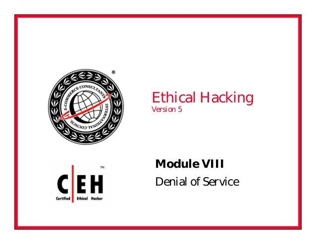 Ceh v5 module 08 denial of service