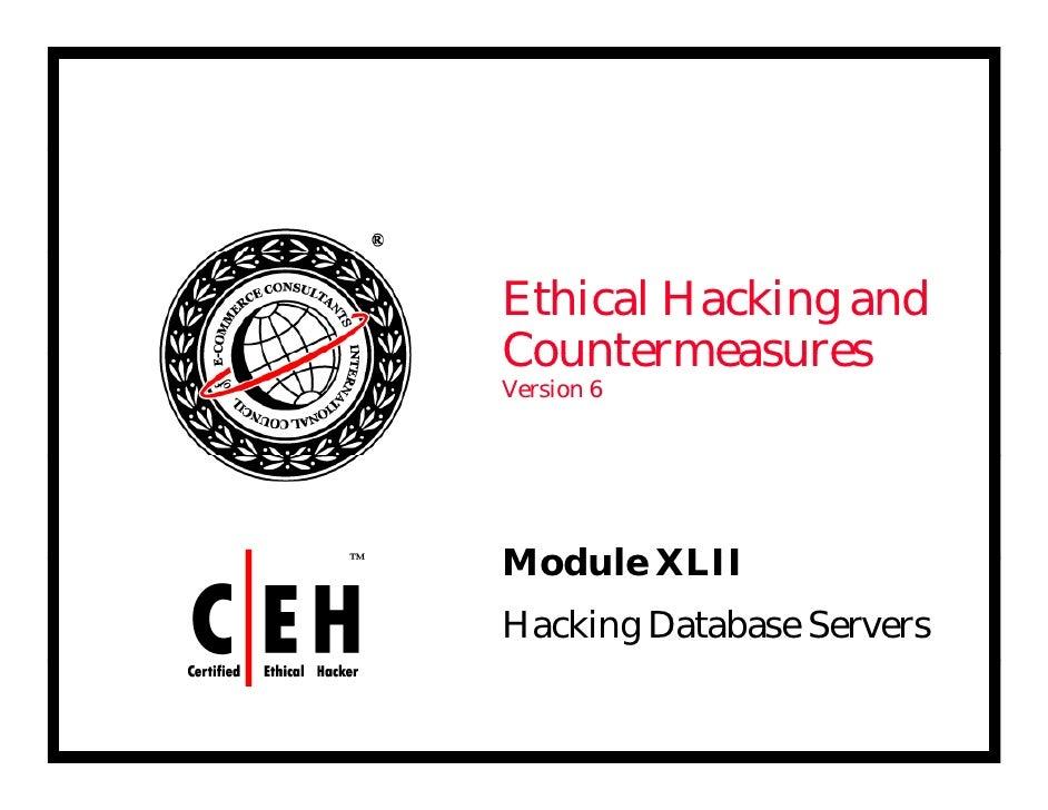 Ce Hv6 Module 42 Hacking Database Servers
