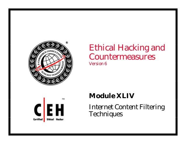 Ce hv6 module 44 internet content filtering techniques