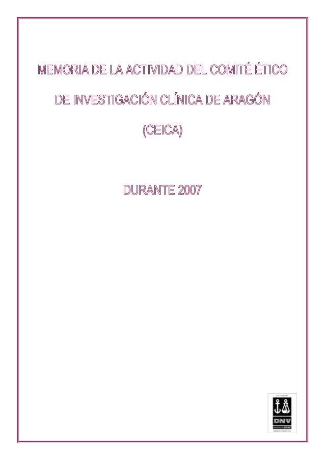 COMITÉ ÉTICO DE INVESTIGACIÓN CLÍNICA DE ARAGÓN (CEICA) Avda. Gómez laguna, 25 planta 11 50009 Zaragoza 2 de 37 2 1.- INTR...