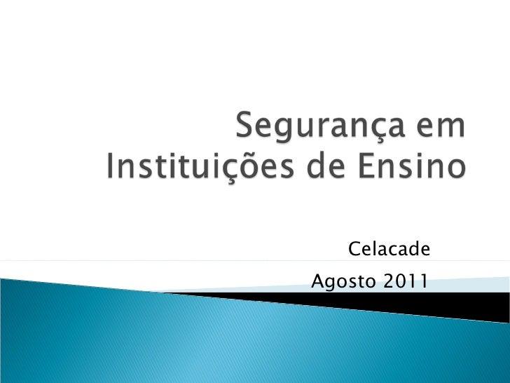 Segurança em Instituições de Ensino