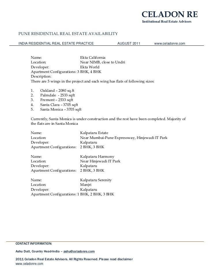 Celadon RE Advisors - Pune Residential