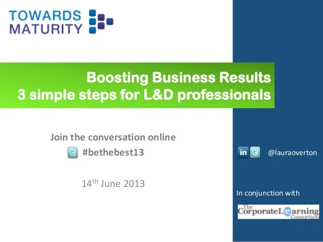 Boosting business results and engagement – 3 simple steps for L&D professionals