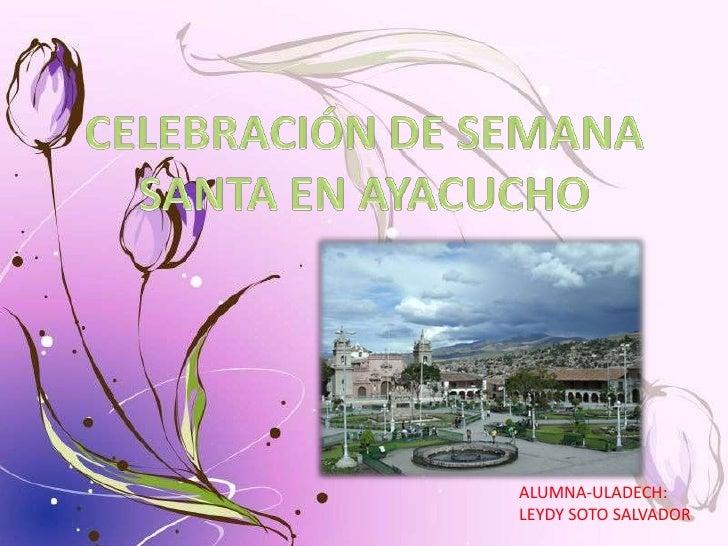 ALUMNA-ULADECH:LEYDY SOTO SALVADOR