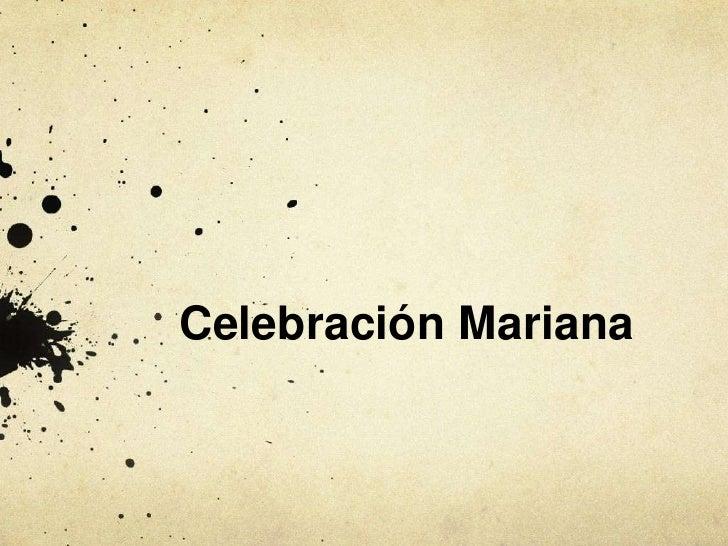 Celebración Mariana