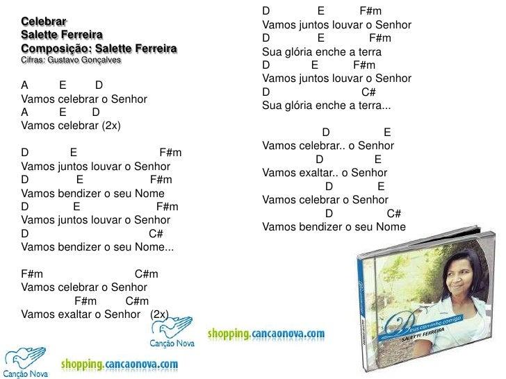 Celebrar - Salette Ferreira - Cifras
