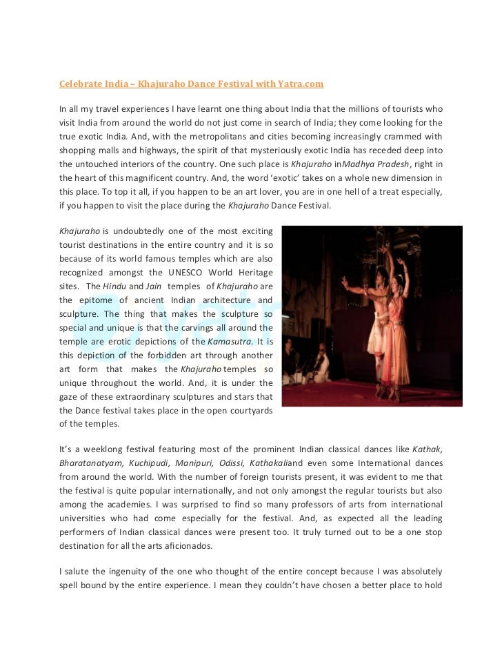 Celebrate India – Khajuraho Dance Festival with Yatra.comIn all my travel experiences I have learnt one thing about India ...