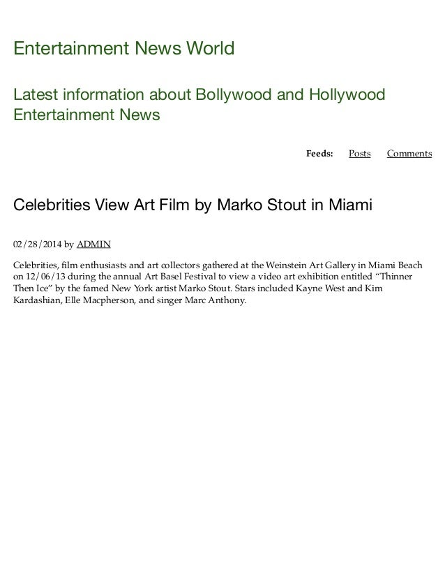 Celebrities view art film by marko stout in miami | entertainment news world