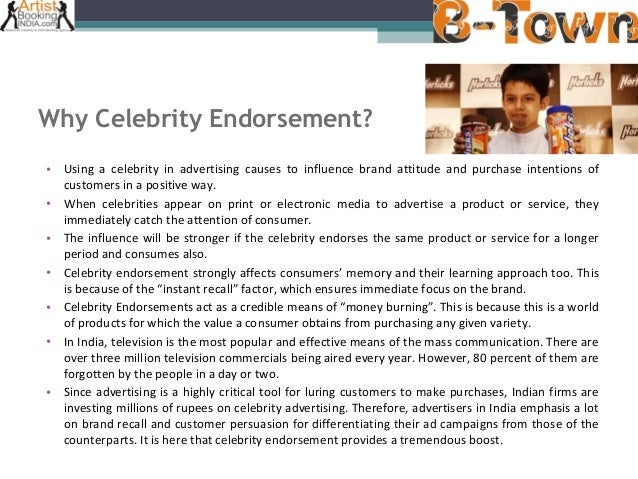 impact of celebrity endorsement on consumer purchase intention marketing essay Consumer's perception of attractiveness, purchase intention, and body image among indonesian women thus the way the media portrays female beauty has an impact on.