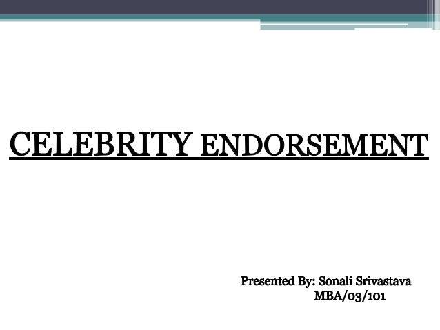 The Nonuser Celebrity Endorser Teaching Notes