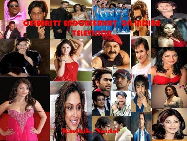 Celebrity endorsement on indian television