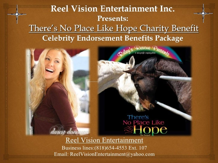 Celebrity horse charity event sponsorship powerpoint..lp