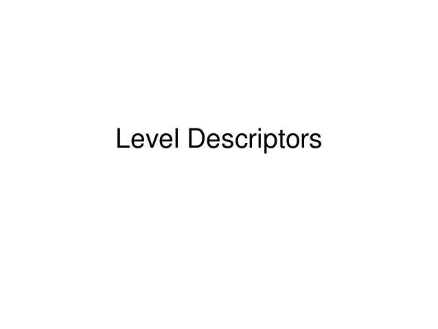 Celebrity level descriptors