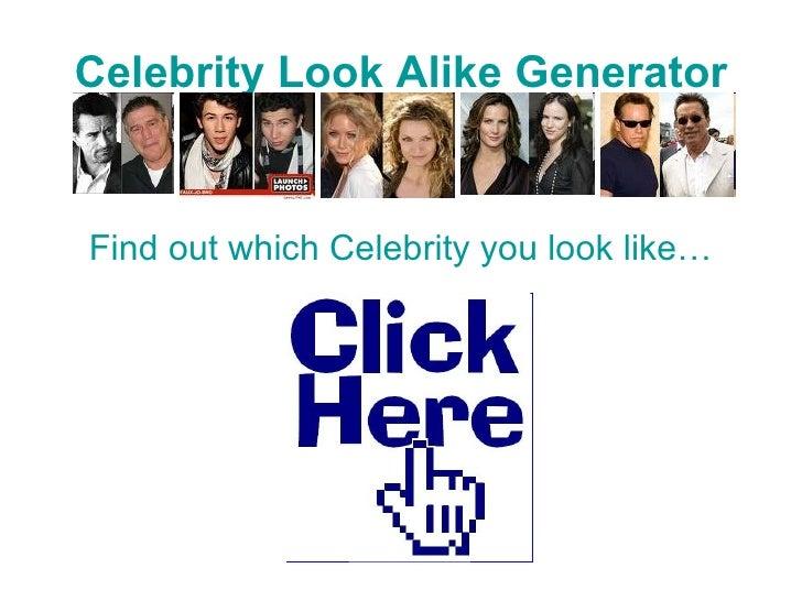 Celebrity Look A Like Meter