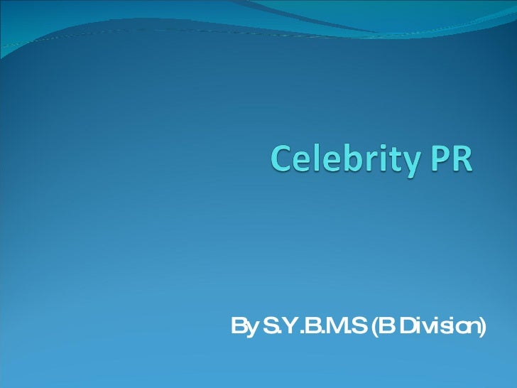 Celebrity Public relations