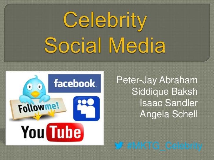 Peter-Jay Abraham   Siddique Baksh     Isaac Sandler     Angela Schell  #MKTG_Celebrity
