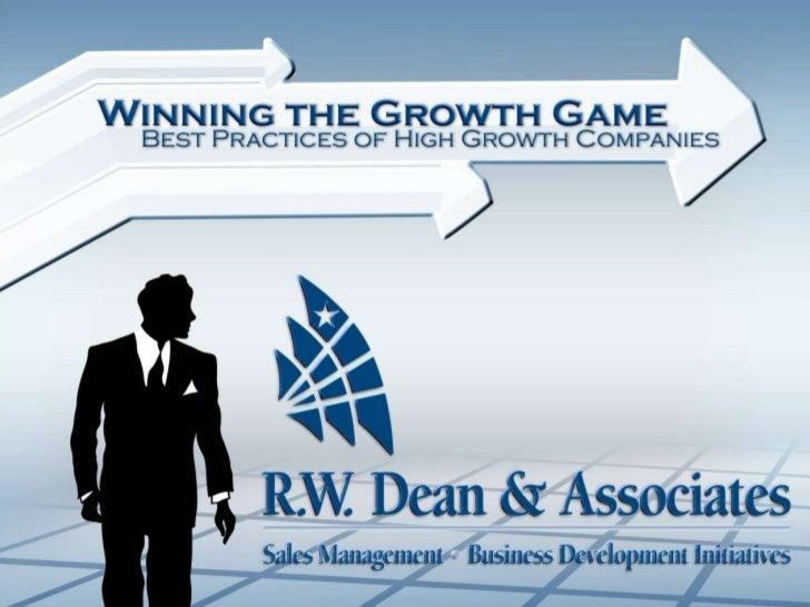 Rick Dean Presentation, Growth 11811