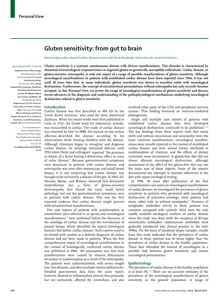 Celiac disease from gut to brain