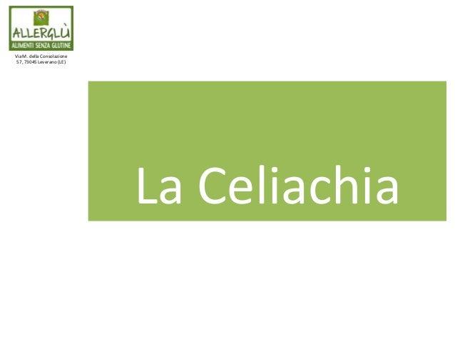 Via M. della Consolazione 57, 73045 Leverano (LE) La Celiachia
