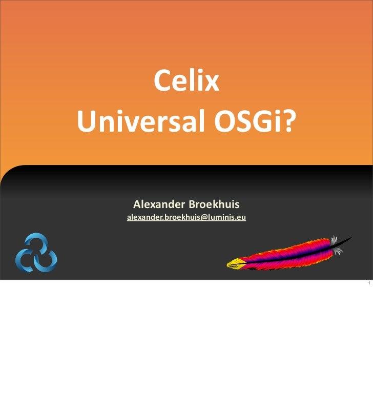 Celix universal OSGi