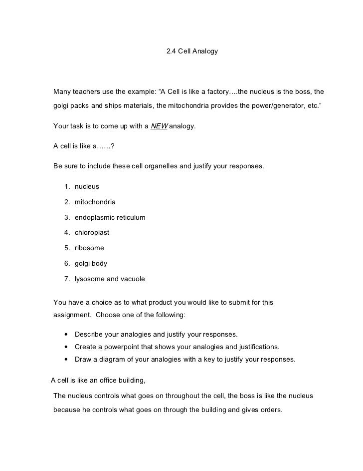 Cell Analogies Examples Image Collections Example Cover Letter For